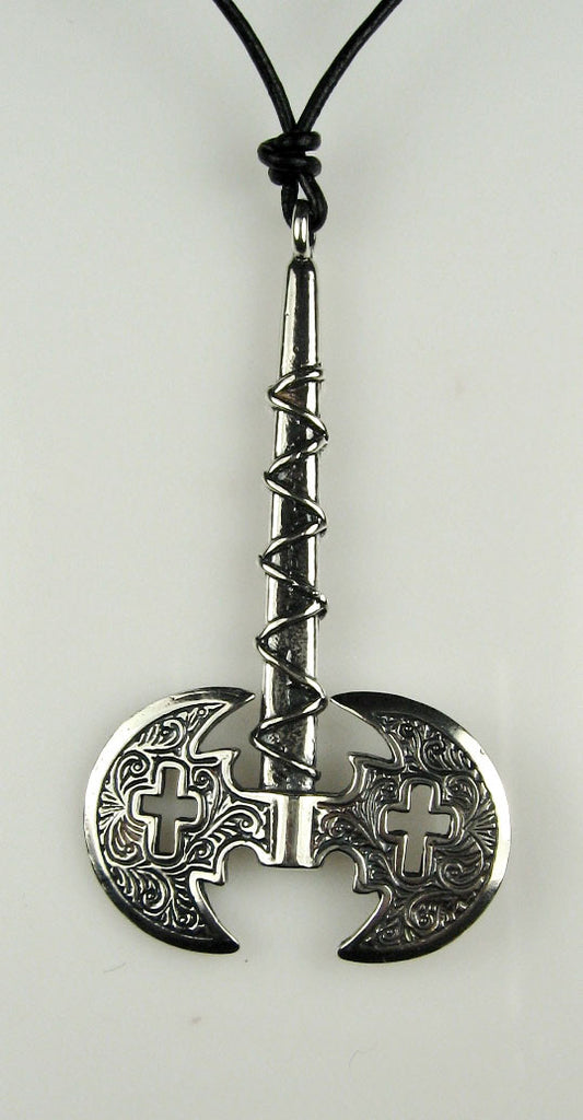 Sterling Silver Double-Headed Axe Pendant