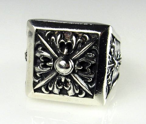 Sterling Silver Apostle's Cross Ring