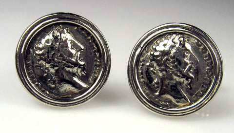 Zinc Roman Coin Cuff Links