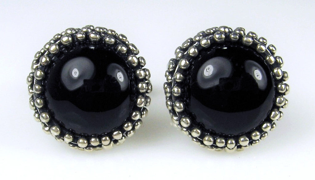 Onyx Cabochon Dome Cuff Links
