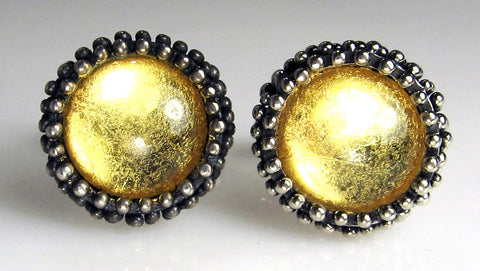 24-Karat Gold Foil Dome Cuff Links