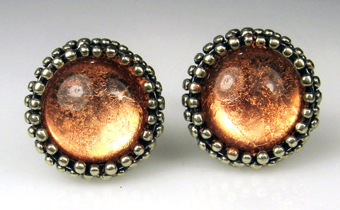 Copper Foil Dome Cuff Links