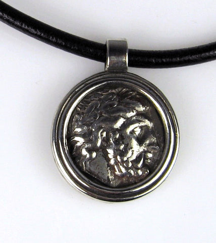 Zinc Greek Coin Pendant