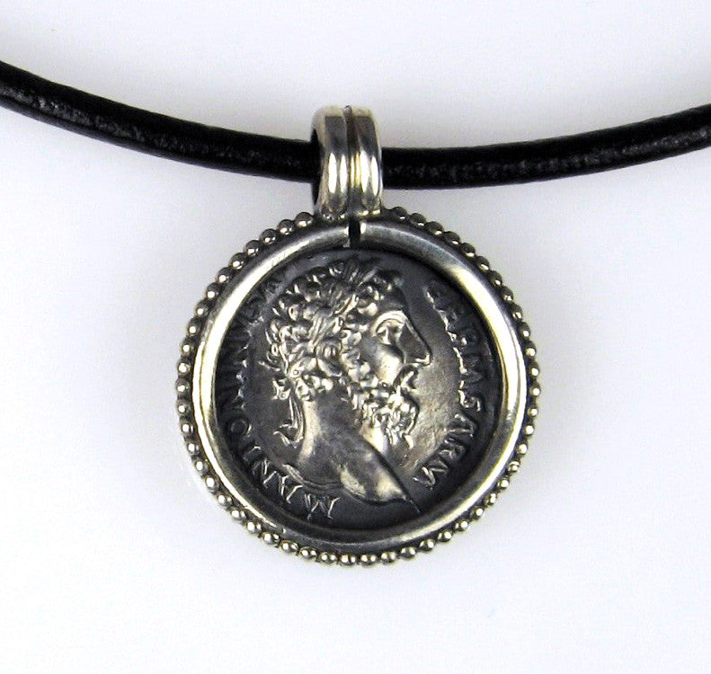 Sterling Silver Roman Coin Pendant