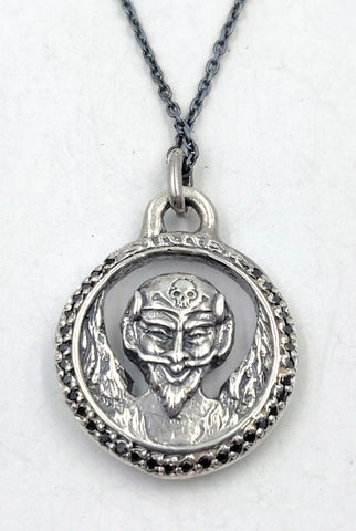 Sterling Silver Saint and Sinner Pendant