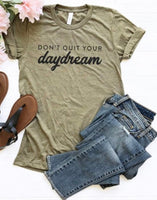 """Daydream""olive tee"