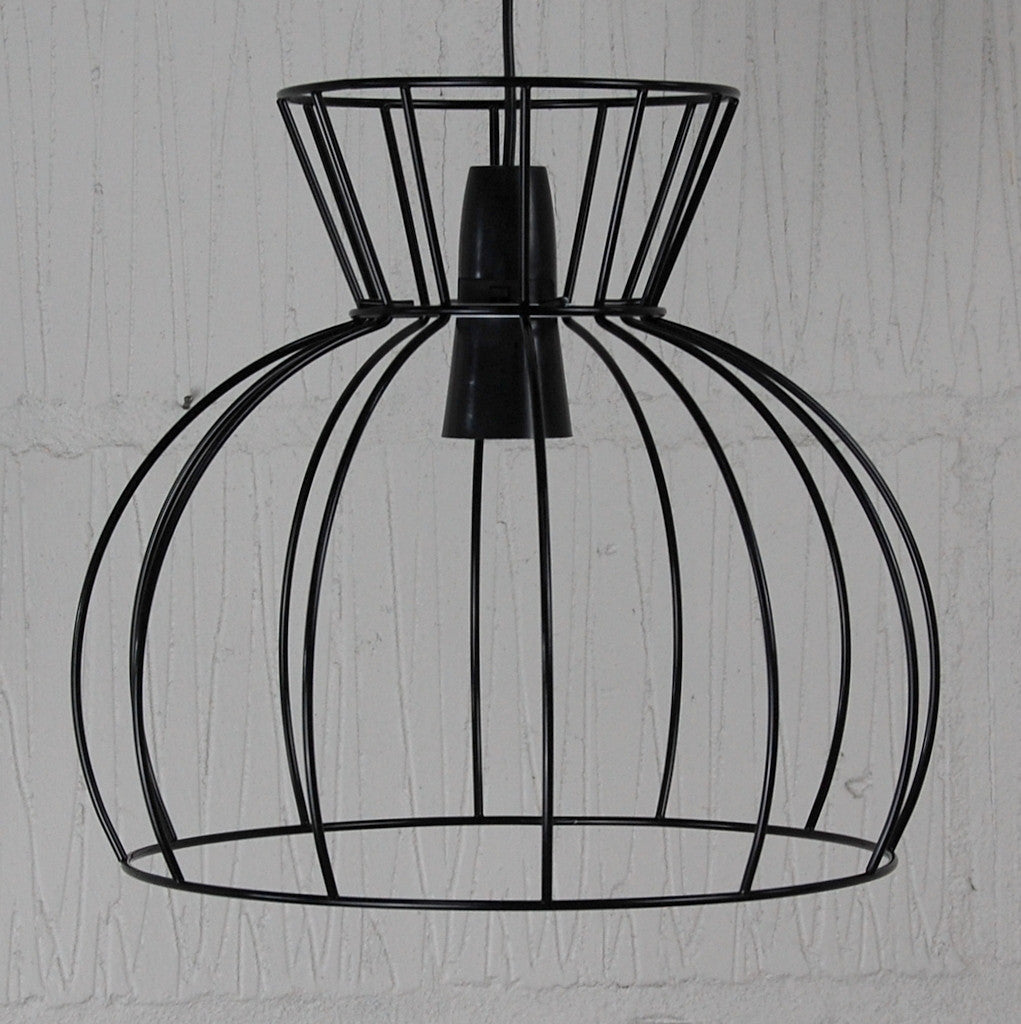 watt industrial wire cage lamp homemakingheaven 3 - Wire Lampshade Frames