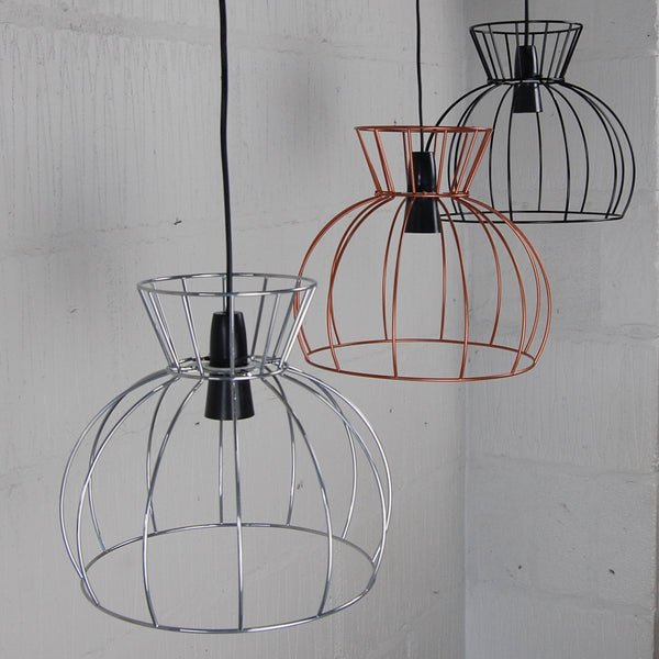 Watt Industrial Wire Cage Lamp - HomemakingHeaven  - 1