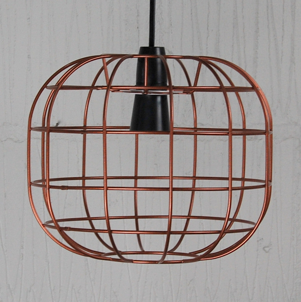 Faraday industrial chic wire metal lampshade light frame round industrial pendant light cage lamp greentooth Gallery