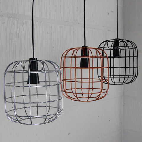 Lighting tagged all products homemakingheaven arkwright industrial wire cage light greentooth Gallery
