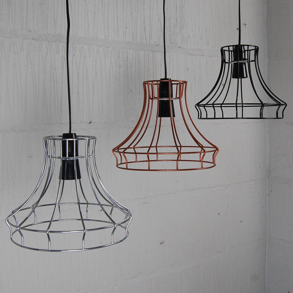 Hazledine industrial chic wire metal lampshade light frame restaurant vintage industrial pendant light greentooth Images