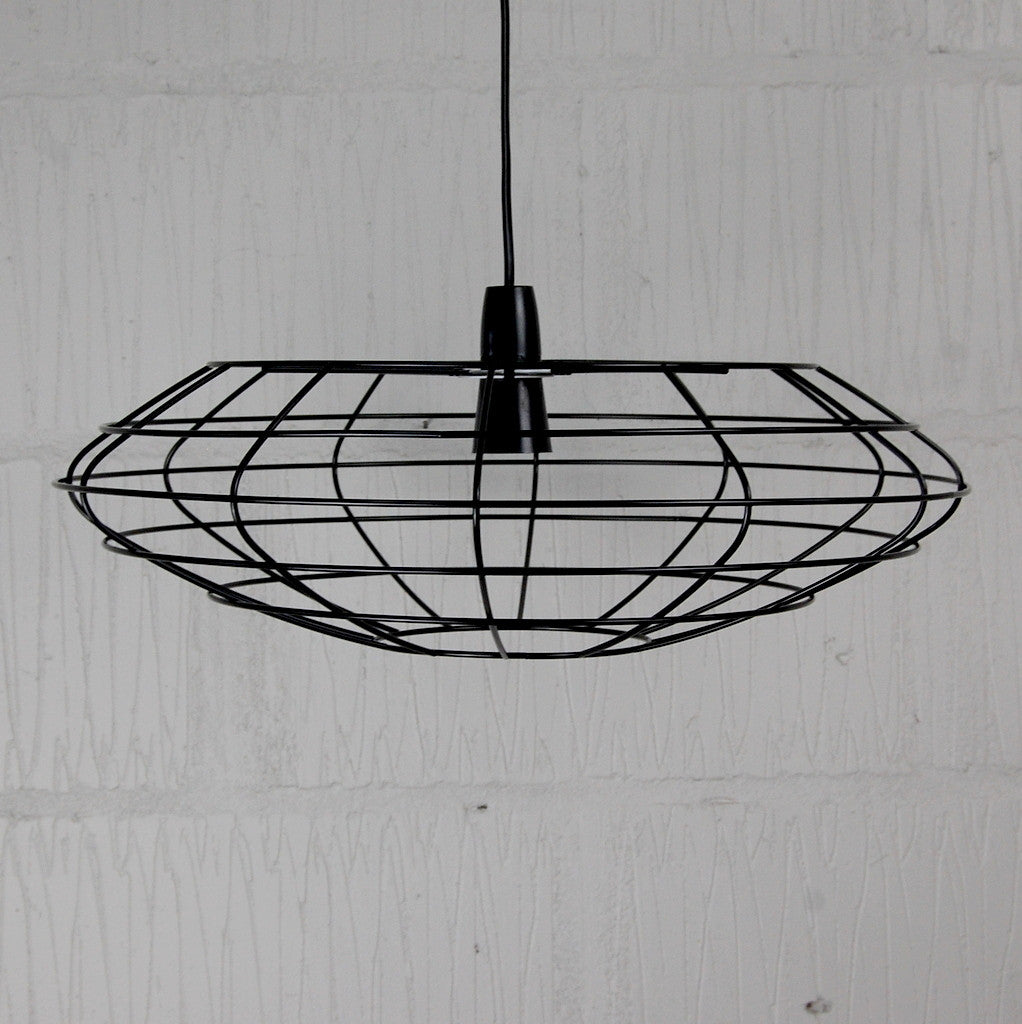 Bessemer industrial chic wire metal lampshade frame homemakingheaven above bar industrial lighting greentooth Gallery