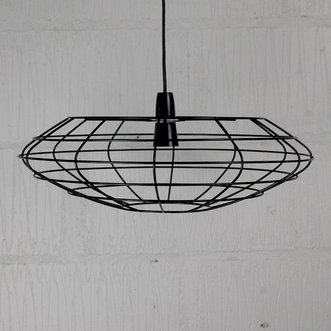 Bessemer industrial chic wire metal lampshade frame homemakingheaven above bar industrial lighting oversized industrial pendant cage lighting wire cage frame pendant light keyboard keysfo Choice Image
