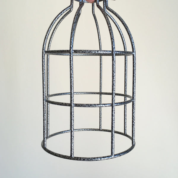 Locke Wire Industrial Cage Pendant Light - HomemakingHeaven  - 6