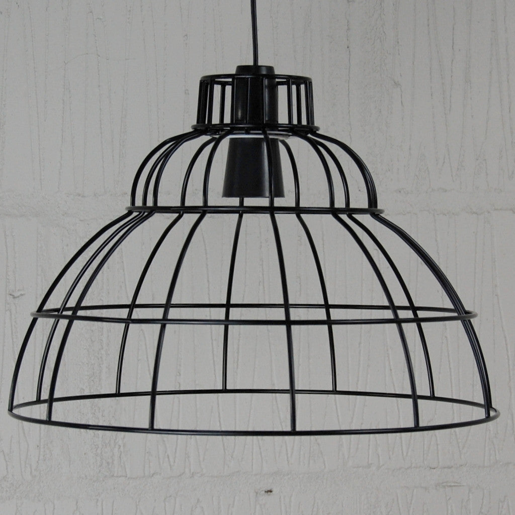 Industrial Lighting Components: Boulton Industrial Chic Wire Metal Lampshade Frame