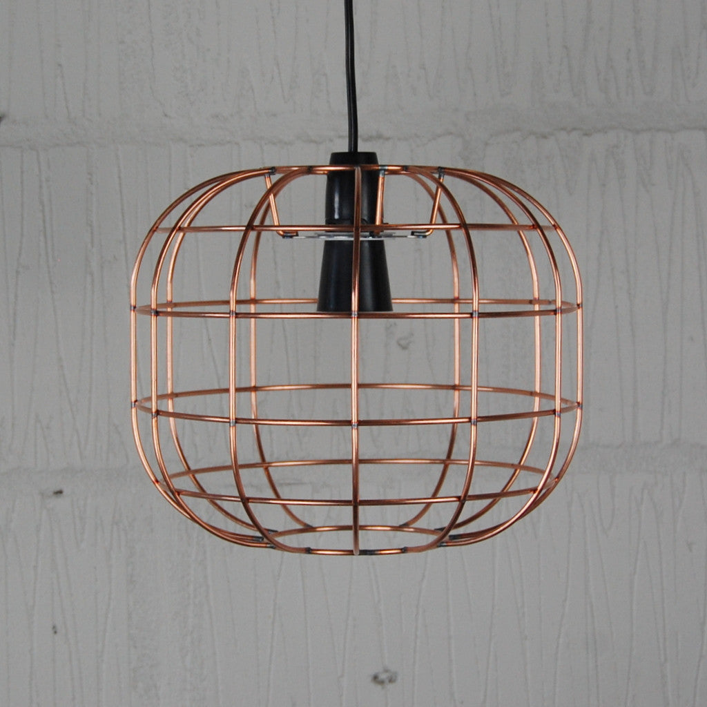 Faraday industrial chic wire metal lampshade light frame vintage industrial light cage keyboard keysfo Images
