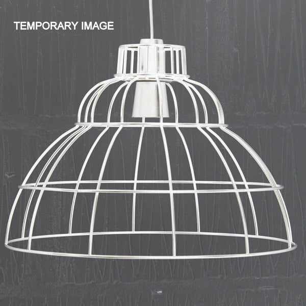 wire cage frame pendant light