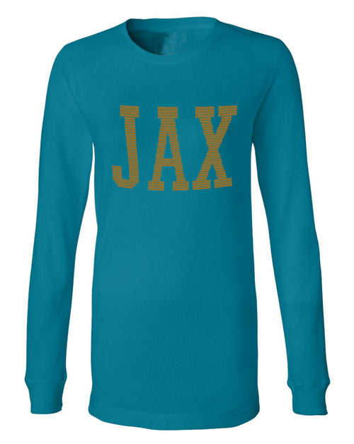 the admiral's daughters teal jax jacksonville thermal sweater