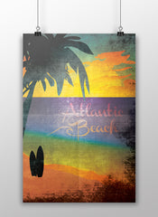 Atlantic Beach Vintage Style Art Print