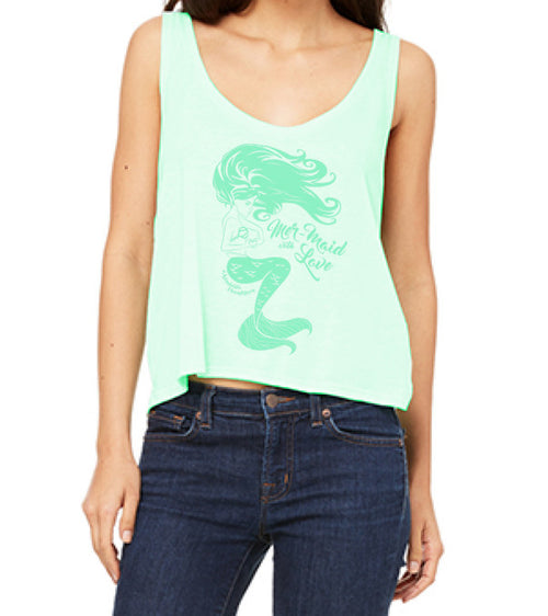 MERMAID WITH LOVE BOXY TANK
