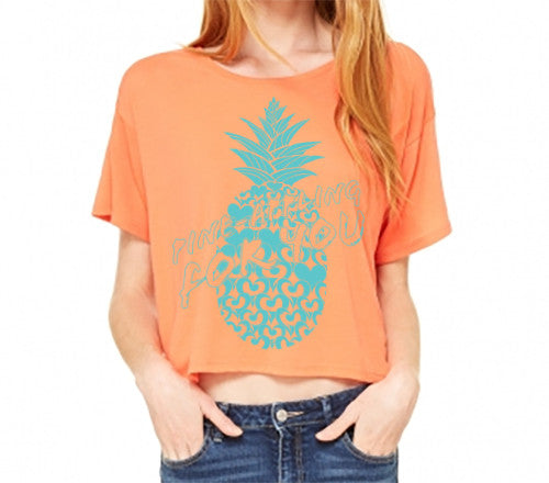 PINEAPPLE-ING FOR YOU FLOWY ORANGE T-SHIRT