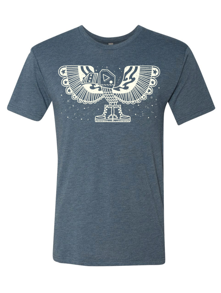 the admiral's daughters boot campaign blue freedom eagle patriotic t-shirt