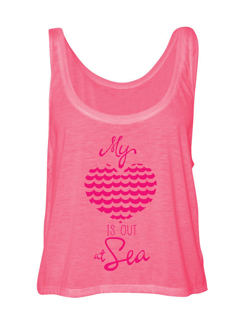 HEART AT SEA NEON PINK TANK