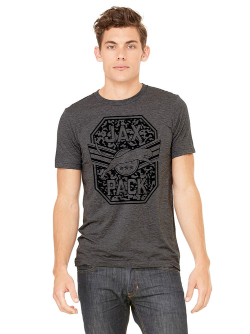 JAGS JAX PACK MEN'S DARK GREY T-SHIRT WITH BLACK