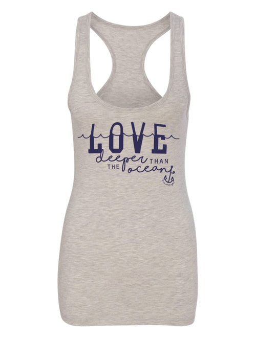 the admirals daughters love deeper than the ocean anchor waves florida sunshine state navy wife grey tank top
