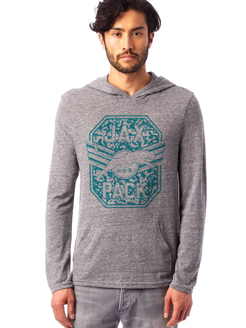 JAGS JAX PACK GREY LIGHTWEIGHT HOODED SWEATSHIRT