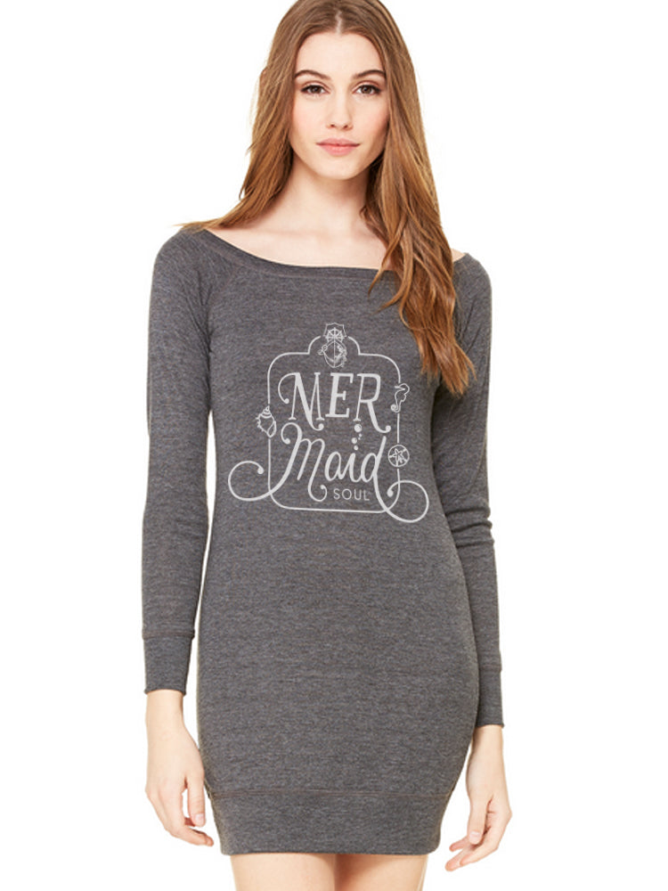 the admiral's daughters mermaid soul grey wide neck dress