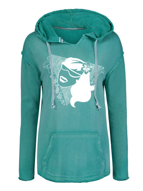 MIAMI VICE TEAL HOODED SWEATSHIRT