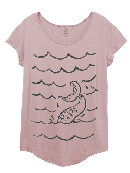 MERMAID SIGHTING ROSE PINK TAILORED T-SHIRT