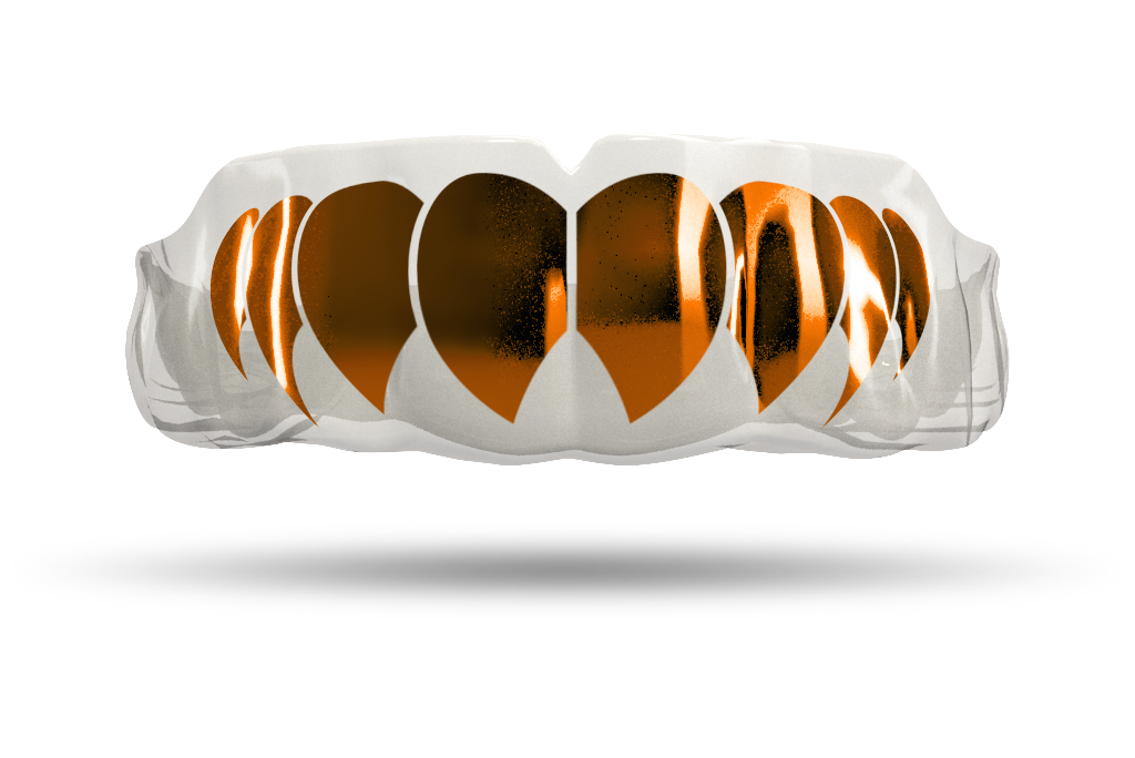 Chrome Burnt Orange Fangs (Clear)