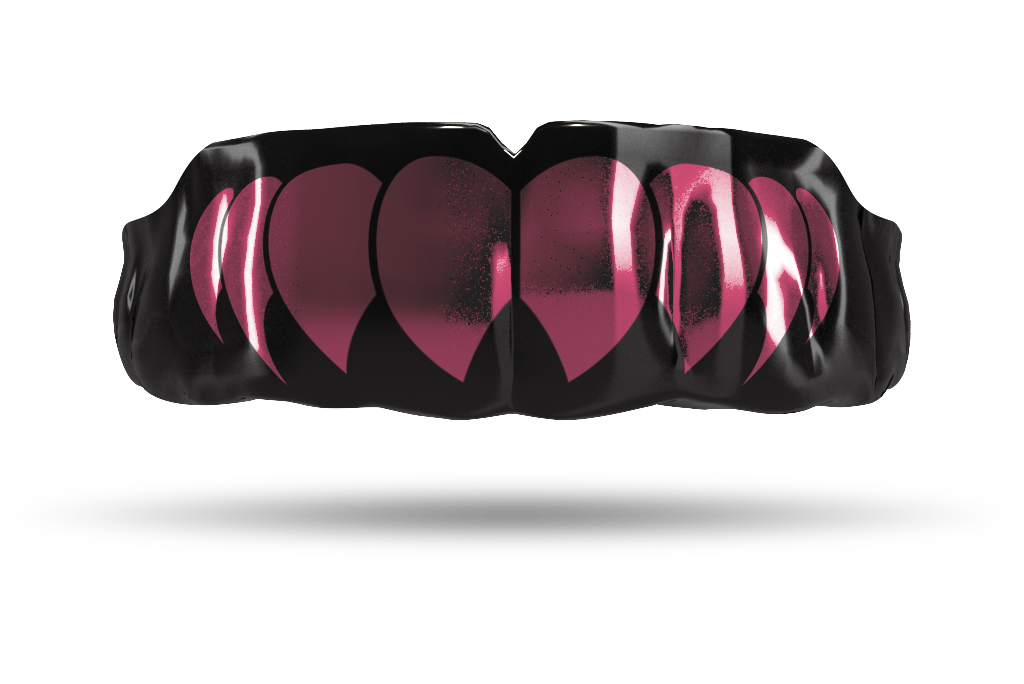 Chrome Dusty Pink Fangs (Black)
