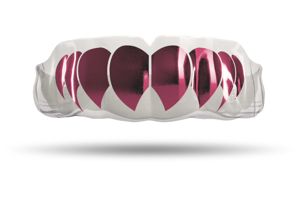 Chrome Dusty Pink Fangs (Clear)