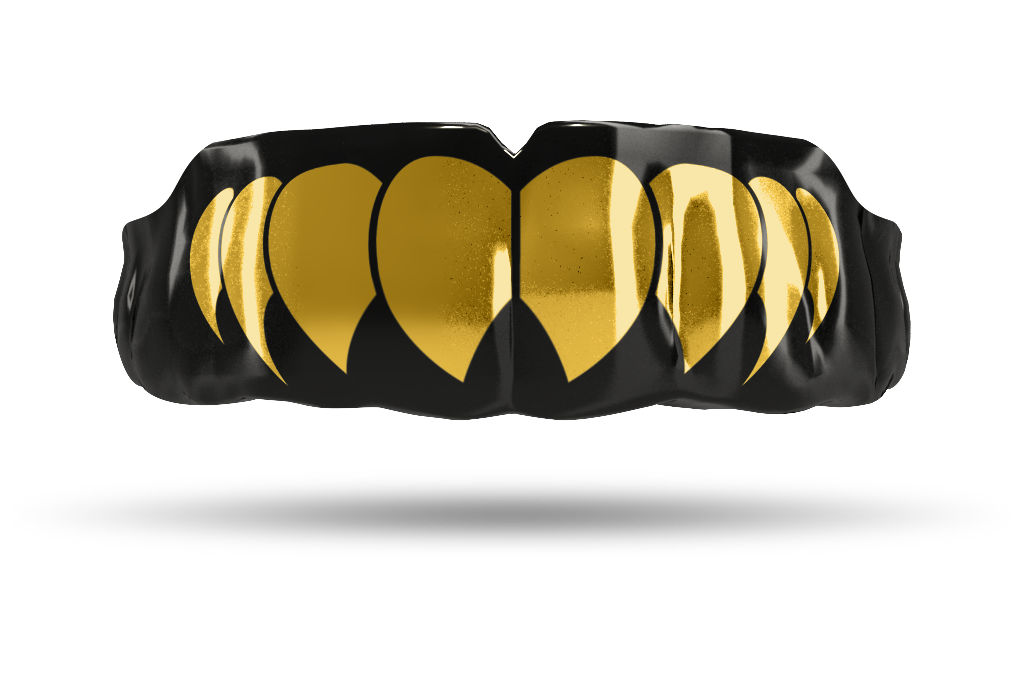 Chrome Gold Fangs (Black)