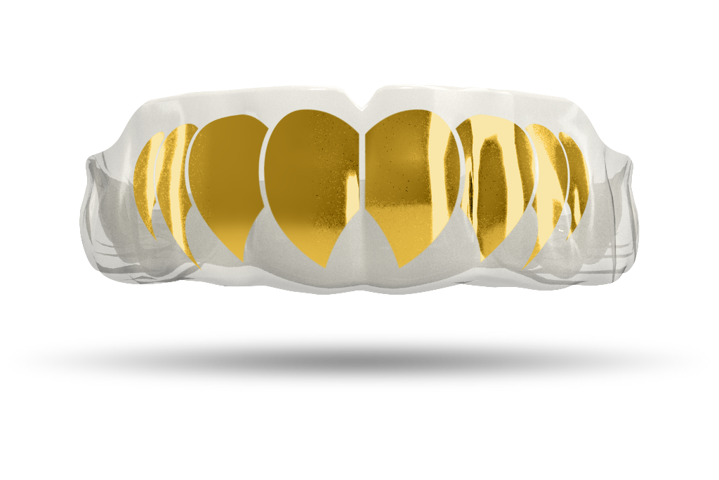 Chrome Gold Fangs (Clear)