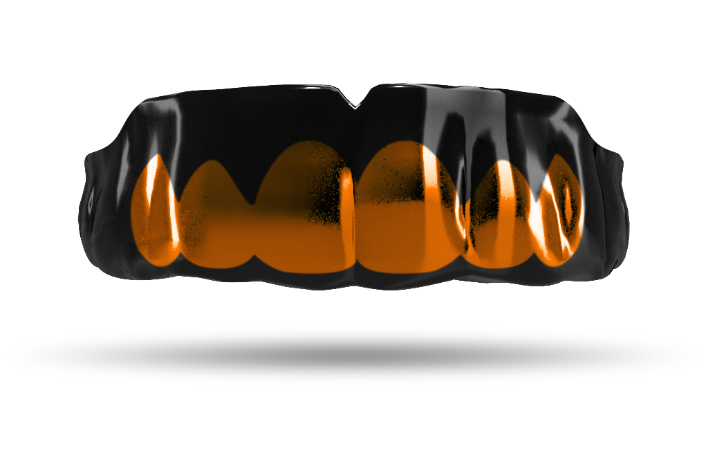 Chrome Burnt Orange Grill (Black)