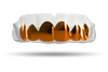 Chrome Burnt Orange Grill (Clear)