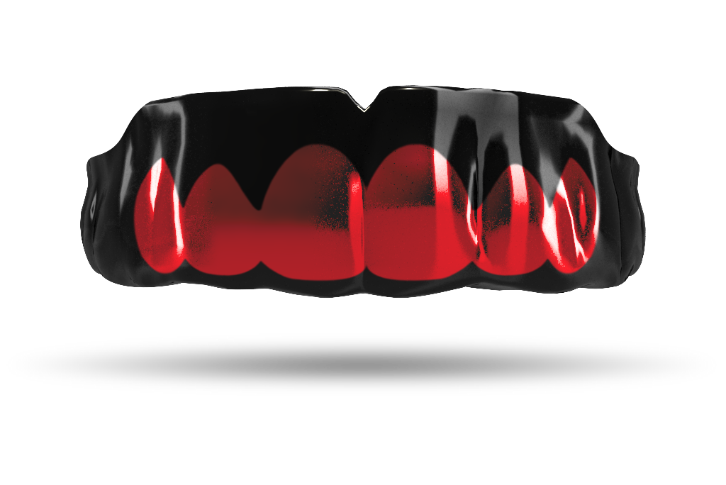 Chrome Red Grill (Black)