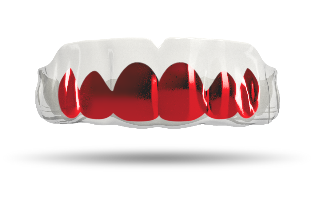 Chrome Red Grill (Clear)