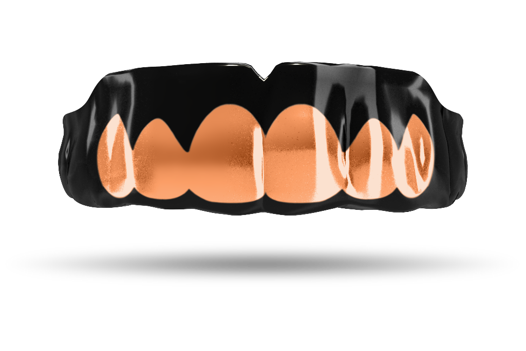 Chrome Rose Gold Grill (Black)