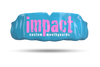 Impact Pink Logo - Light Blue
