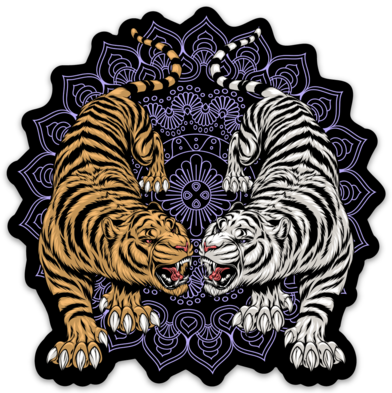 Two Tiger Sticker