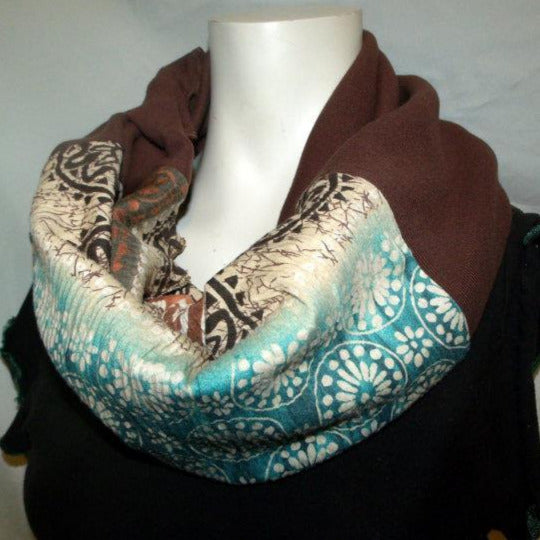 Black and Blue Diagonal Eternity Scarf