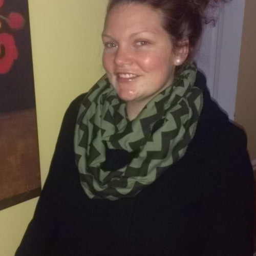 Olive Black Animal Print Eternity Scarf