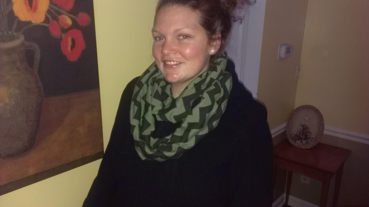 Brown Chevron Eternity Scarf