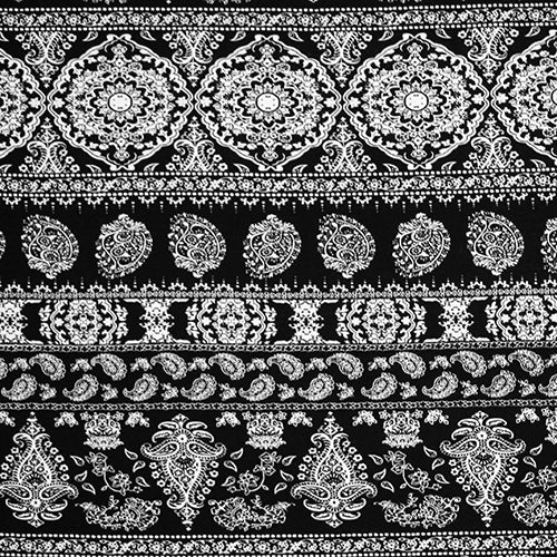 Black and White Paisley Head Hugger