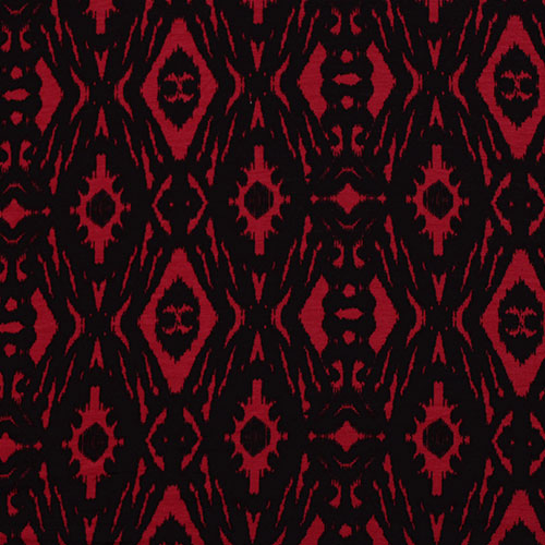 Black and Red Ikat Head Hugger